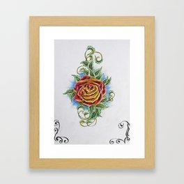 Ornamental Rose Framed Art Print