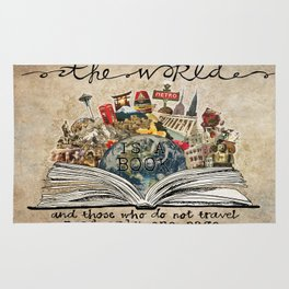 The World Is A Book Rug