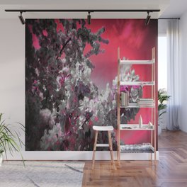Flowers Purple Fuchsia Hot Pink Wall Mural