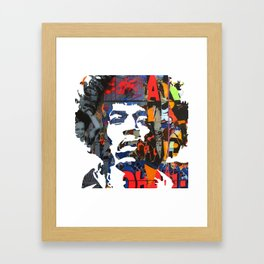 Jimi Hendrix Graffitti Framed Art Print