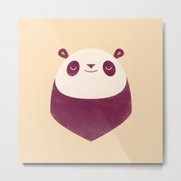 Minimal Panda Metal Print