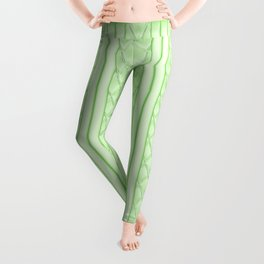 Cool Frosted Lime Green Quilted Geometric Design Leggings