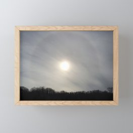 Cloudy Corona Framed Mini Art Print