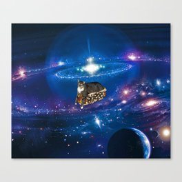 Floating on a Chili Dog Canvas Print
