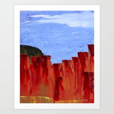 High Desert Canyons Art Print