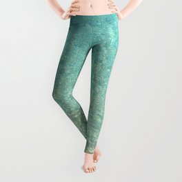 Colors of the Sea Water - Clear Turquoise Leggings