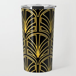 3-D Art Deco Argentinian Glamour Gold Pattern Travel Mug