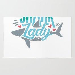 Not So Crazy Shark Lady for Shark Lovers Rug