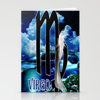 virgo Stationery Cards featuring Virgo by LBH Dezines