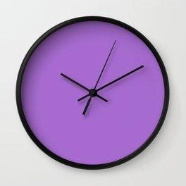 Rich lavender - solid color Wall Clock
