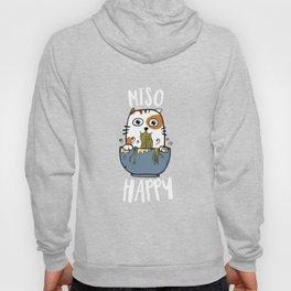 Miso Happy T-Shirt Japanese Cat Lover Pun Gift Tee Hoody