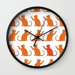 Cat Lineup Wall Clock