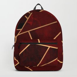 Red & Gold Geo Backpack