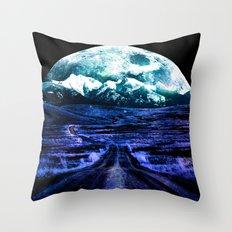 Highway to Eternity (moon mountain) Throw Pillow
