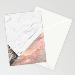 Marble with sequins and mother of pearl Stationery Cards