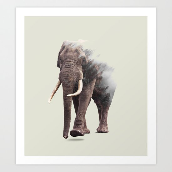 Elephantastic #society6 #decor #buyart Art Print