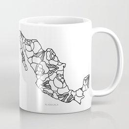 Mexico Map Black Outline Coffee Mug