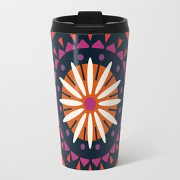 You Know - abstract 70s floral mandala trendy 1970s art minimal retro sun Travel Mug