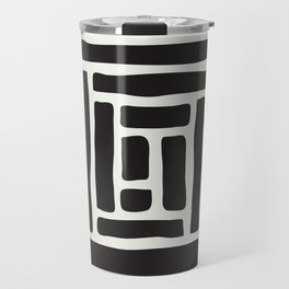 Geometric Tile Network Travel Mug