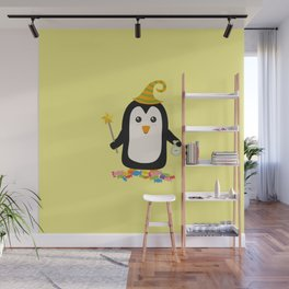 Happy Halloween Witch Penguin T-Shirt Dghgg Wall Mural