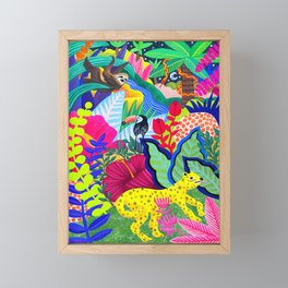 Jungle Party Animals Framed Mini Art Print