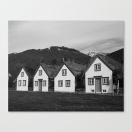 Iceland Sod Houses Canvas Print