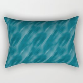 Tropical Dark Teal Inspired by Sherwin Williams 2020 Trending Color Oceanside SW6496 Abstract Blend Motion Blur Rectangular Pillow