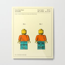 TOY FIGURE Patent (1979) Reproduction Metal Print