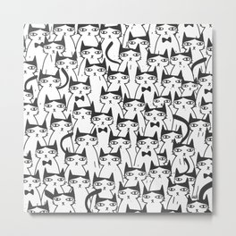 Cats #society6 Decor #buyart Metal Print