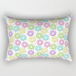 donuts with colored glaze. tasty pattern Rectangular Pillow