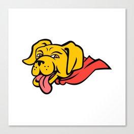 Super Yellow Labrador Retriever Wearing Cape Mascot Canvas Print
