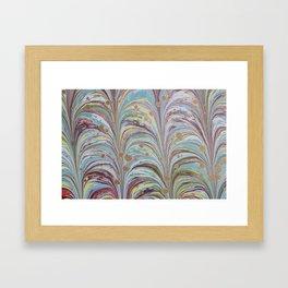 Marbled Multicolor Fountain Framed Art Print