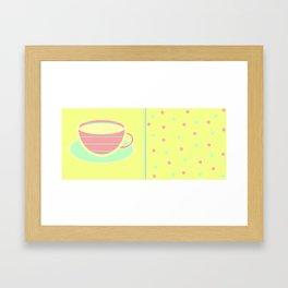 Stripey teacup Framed Art Print