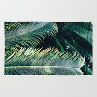 palm tree Area & Throw Rugs featuring Palm Tree by Pati Designs & Photography