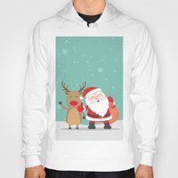 merry christmas Hoodies featuring Merry Christmas by ShineShop