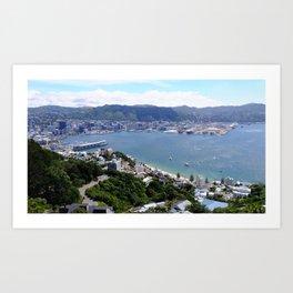 Wellington Waterfront Art Print