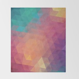 Geometric art Throw Blanket