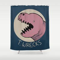 musa Shower Curtains featuring T.WRECKS by musa
