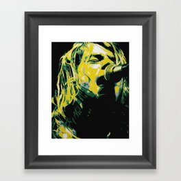 COBAIN UNPLUGGED Framed Art Print