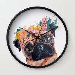 Popped Pug #3 Wall Clock