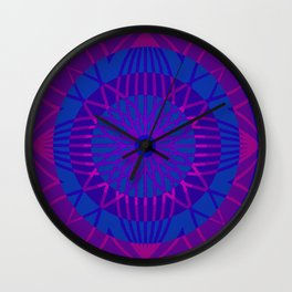 Sunflower in Pink Wall Clock