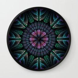Magical dream flower, fractal abstract Wall Clock