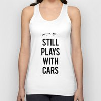 audi Tank Tops featuring Still plays with cars by Barbo's Art