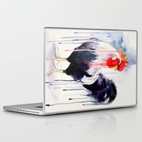 rooster Laptop & iPad Skins featuring Rooster  by Slaveika Aladjova