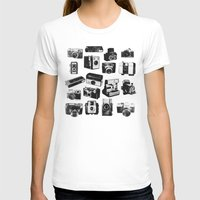 cameras T-shirts featuring Cameras by ELCORINTIO