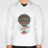 baloon Hoodies featuring have love, will travel by Laura Graves