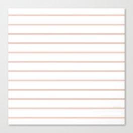 Millennial Pink Breton Stripes Canvas Print