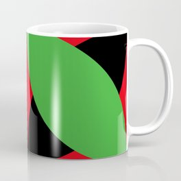 Two four-leaf clovers hugging in a beautiful deep red space. How lucky! Coffee Mug