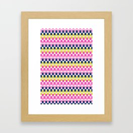 COLOURFUL BLOCKS Framed Art Print