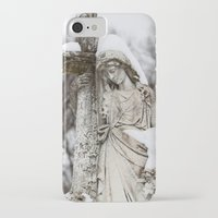 religious iPhone & iPod Cases featuring Religious Statue by Legends of Darkness Photography
